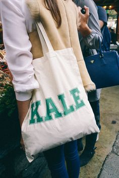 YES KALE TOTE LOVE :)