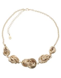 Chunky Knot Round Necklace