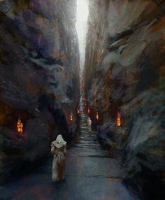 holy trail by alexander forssberg EXPOSE The Finest Digital Art in the Known Universe Fantasy Castle, High Fantasy, Fantasy World, Landscape Concept, Fantasy Landscape, Environment Concept Art, Environment Design, Fantasy Illustration, Illustration Artists
