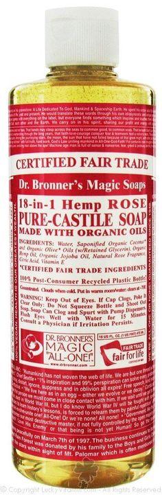 Dr. Bronner's Hemp Rose, Pure-Castile Soap