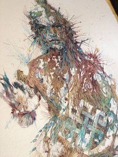 Meditate by Carne Griffiths, via Behance