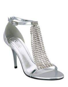 Metallic strappy dressy shoe | Model ER Kit | Pinterest | Not