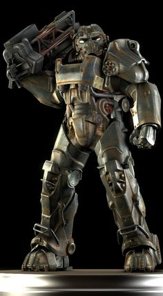 Developed in early 2077 after the Anchorage Reclamation [1], the T-60 series of power armor was designed to eventually replace the T-51 power armor as the pinnacle of powered armor technology in the U.S. military arsenal. Incorporating design elements from the earlier T-45, the T-60 was deployed domestically among U.S. Army units just prior to the dropping of the bombs.