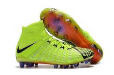 70d41d4d8fd0 Nike Hypervenom Phantom III DF EA Sports FG Sock Soccer Cleats -  Volt/Black/Metallic Silver