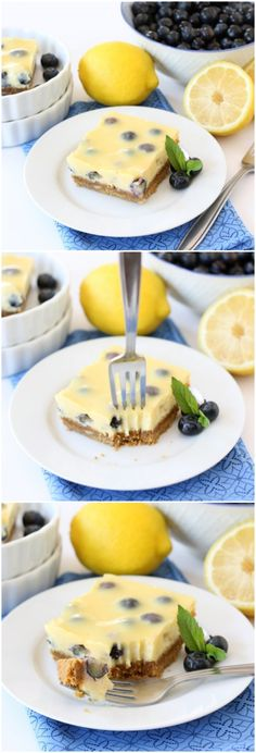 Lemon Blueberry Bars Recipe on twopeasandtheirpod.com. A favorite dessert for summertime! #lemon #dessert