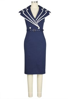 Retro Sailor Dress by ChicStar