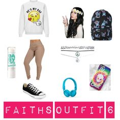 Cooly Outfit 6 by daijah-thomas on Polyvore featuring Converse, Disney, Wet Seal, Beats by Dr. Dre and Maybelline