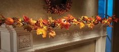 Amazon.com - Led Lighted Fall Floral Garland Garland -