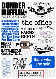 The Office Show Mega Svg Bundle Office Tv Series Set Svg