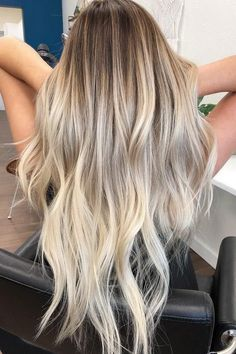 Hairstyle Ideas: 51 Ultra Popular Hairstyle and Hair Painting Ideas from Blonde Balayage . - Hairstyle Ideas: 51 Ultra Popular Hairstyle and Hair Painting Ideas from Blonde Balayage – ListFe - Balayage Blond, Hair Color Balayage, Balayage Hairstyle, Curly Balayage Hair, Blonde Hair Looks, Ash Blonde Hair, Thick Blonde Hair, Summer Blonde Hair, Platinum Blonde