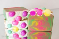 Winters Candy Apple Handmade Soap Coconut Milk by XplosiveCosmetiX