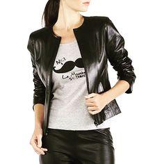 Bella Lambskin Bomber jacket AUD:$227 Free shipping all over the world! #black #leatherjacket #biker #leather #jacket #blacknwhite_perfection #fashion #fashionblogger #urbanwear #onlineshopping #streetstyle  #bikerjacket #like #women #melbournefashion #leatherwear #aboutalook #designer #outfitideas #yourstyle #fresh #new #fashiondesigner  #Austrailia