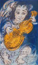 David Boyd 1924-2011 Large Original Australian Screenprint Viola Angelica SFAA