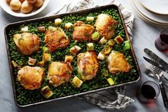 Nigella Lawson's Chicken and Pea Traybake recipe on Food52