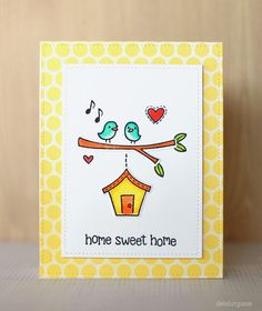 deb duty {photography + scrapbooking}: home sweet home card