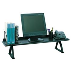 @Overstock - This extra wide, 12-inch deep shelf allows you to store binders, telephone, monitor, DeskJet printer or other desk accessories. This organizer features shelf dividers to keep books and binders upright and orderly.http://www.overstock.com/Office-Supplies/Safco-42-inch-Desk-Riser/4657085/product.html?CID=214117 $94.28