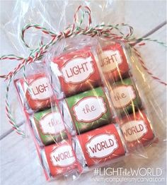 #LIGHTtheWORLD Free Printable Nugget Wrappers! Great way to introduce, encourage and invite your family, friends and youth to Light the World with Service this Christmas Season!