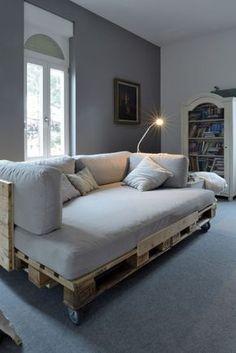 sofa bett aus paletten selber bauen möbel aus paletten