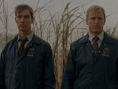 Still of Matthew McConaughey and Woody Harrelson in True Detective (2014)