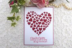 Valentine's Day Handmade Heart Card With by My Latest Creations