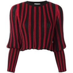 3453ea4cdda08 Sonia Rykiel Tight Longsleeves Striped Pullover ( 1,100) ❤ liked on Polyvore  featuring tops,