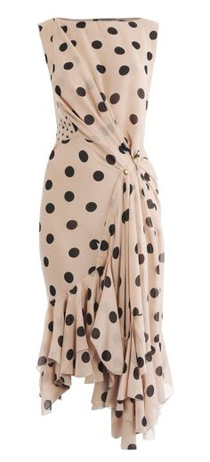 #swag Nina Ricci Silk Polka Dot Dress in Pink (blush)