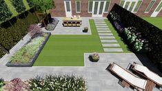 Rectangle Garden Design, Back Garden Design, Modern Garden Design, Garden Landscape Design, Small Backyard Gardens, Back Gardens, Backyard Landscaping, Outdoor Gardens, East Facing Garden
