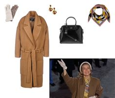 Frauenschuh Gloria wool and nappa leather glove, $220 brownsfashion.com Oscar de la Renta rose clip-on drop earrings, $255 saksfifthavenue.com Jonathan Saunders yellow hazard silk scarf, $390 liberty.co.uk Kate Spade New York cedar street patent Margot bag, $348 piperlime.gap.com Filles a Papa coat, $1,105 thecorner.com - Photo: (Clockwise from top left) Courtesy of brownsfashion.com; Courtesy of saksfifthavenue.com; Courtesy of liberty.co.uk; Courtesy of piperlime.gap.com; Courtesy of ...