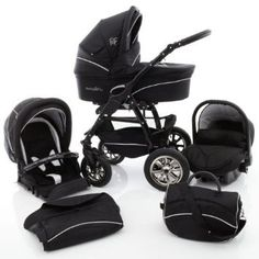 Ferriley & Fitz Filipo pushchair with car seat | stroller pram system 3 in 1.. (004 Black & White Stripes). Price: $1,698