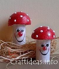Kids crafts toadstools cute