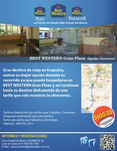 Si viajas a Acapulco, hospédate con nosotros en tu recorrido y aprovecha la tarifa de $600.00 por noche. Válido sólo sábado y domingo.