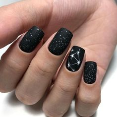 Black Nails Designs Inspirations 2019 The black nail designs are stylish. It is loved by beautiful women. Black nails are an elegant and chic choice. Color nails are suitable for almost every piece of clothing and matching occasions. Black Nail Designs, Short Nail Designs, Nail Art Designs, Nails Design, Shellac Designs, Blog Designs, Matte Black Nails, Black Nail Art, Black Polish