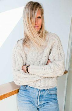 1d6df2a16ef5 Jessica de Ruiter in vintage Levi s 501s. Cozy Sweaters