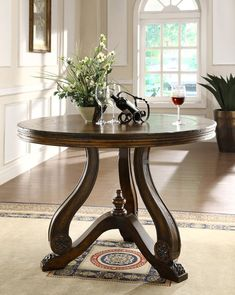 Eastern Legends 59348 Tuscano 48 in. Round Entrance Table, 34 x 48 x 48 in. Home Furniture Shopping, Home Decor Furniture, Sofa Furniture, Rustic Furniture, Furniture Design, Home Room Design, Foyer Design, Entrance Table, Entry Tables