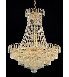 Buy the Crystorama Lighting Group Gold Direct. Shop for the Crystorama Lighting Group Gold Empire II 24 Light Empire Chandelier and save. Crystal Crafts, Crystorama, Crystal Chandelier, Clear Crystal, Gold Chandelier, Pendant Light, Light, Chandelier, Art Deco Lighting