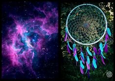 Extra Large Dream Catcher  Galaxy Dreams  Bohemian by bohonest