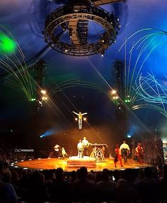 Cirque du Soleil (Circus of the Sun) is a Canadian entertainment company. It is the largest theatrical producer in the world. Based in Montreal, Quebec, Canada, and located in the inner-city area of Saint-Michel, it was founded in Baie-Saint-Paul on 7 July 1984.