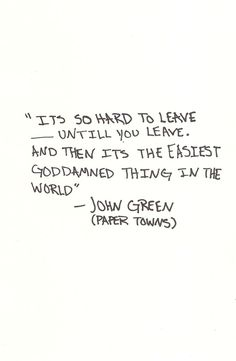 Paper Towns. John Green. Slightly disappointed with this book to be honest