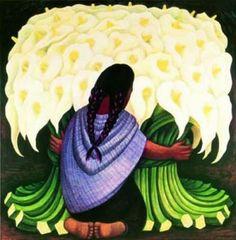 VIERNES 8 DE MARZO A LAS 20.30H. MUJERES QUE ABREN CAMINOS. Celebración dedicada a tantas mujeres que nos han inspirado con su coraje transitando caminos desconocidos hasta ese momento. Diego Rivera el esposo de Frida kalho nos ofrece esta belleza donde la mujer abraza flores.