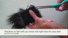 How to Make Doll Wigs, via YouTube.