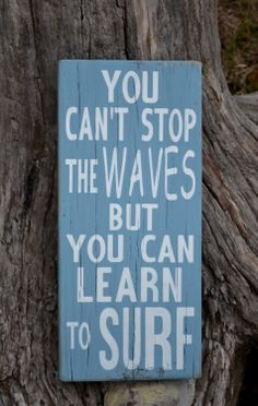 Inspirational Beach Decor Surfing Theme Surf by CarovaBeachSignCo, $37.00