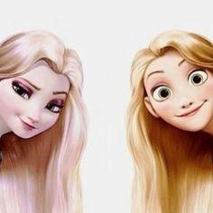 Elsa and repunzel