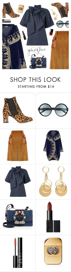 """Outfit of the day"" by sproetje ❤ liked on Polyvore featuring Tabitha Simmons, Tom Ford, Prada, Alexander McQueen, N°21, MANGO, Miu Miu, NARS Cosmetics, Gucci and Chanel"