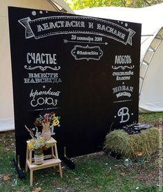 Свадебные аксессуары ручной работы. Ярмарка Мастеров - ручная работа Грифельная меловая доска. Handmade.