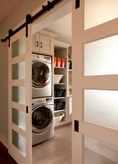 need the sliding door on the outside of the laundry room so I can utilize all the space in the room.