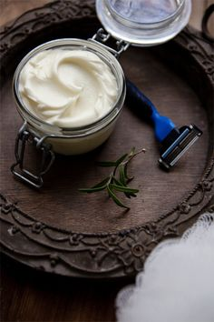 I can't say I can recall the ingredients on a basic can of shaving cream. It's pungent smell and pearly white appearance can only make one wonder if you're putting...