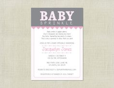 Pink Girl Baby Sprinkle Shower Invitation by HappyHeartPrinting, $10.00