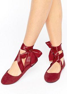 Ribbon tie flats - Valentine treats under £15