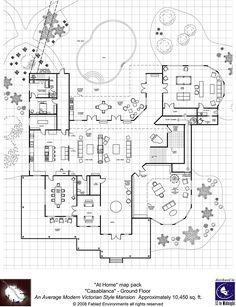 Modern Floorplans: Victorian Style Mansion - Fabled Environments |  | Modern FloorplansDriveThruRPG.com