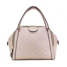 Louis Vuitton Taupe Monogram Empreinte Leather Marais Mm Satchel Bag